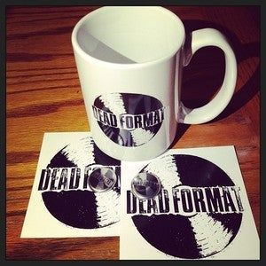Image of Dead Format Coffee Mug + Stickers + Buttons