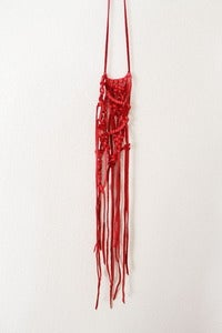Image of Twisted Fate Abstract Macrame-Red