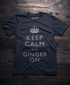 Image of Keep Calm And Ginger On Tri-Blend Tee