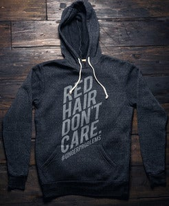 Image of Red Hair Don't Care Stack Hoodie