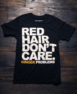 Image of Red Hair Don't Care Black Tee