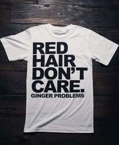 Image of Red Hair Don't Care White Tee