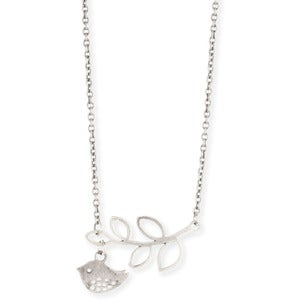 Image of Love Bird Leaf Necklace