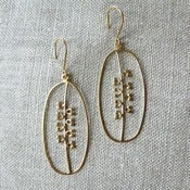 Image of seeds earrings - vermeil