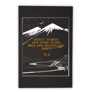 Image of MEN AND MOUNTAIN (PRINT)