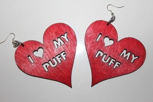 Image of I LOVE MY PUFF - Red