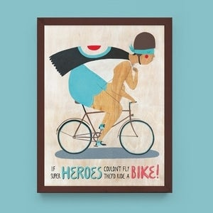 Image of 'Superheroes' print by Evgenia Barinova