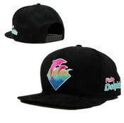 "Image of NEW! Pink Dolphins ""Waves"" Corduroy Snapback Hat Collection"