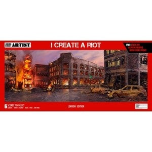 "Image of ""I Create A Riot-London"" Limited Edition Giclee Print with Sticker Pack by Cosmo Sarson"