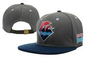 Image of NEW! Pink Dolphin Waves Strapback Hat Collection (Charcoal/Navy)