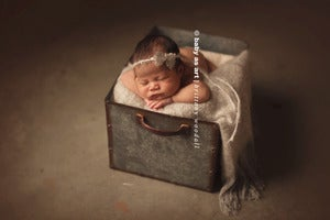 Image of Mohair Stone Grey {Mini Blanket}