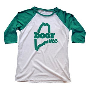 Image of BeerME - 3/4 Sleeve Raglan T-Shirt