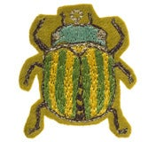 Image of Embroidered Beetle Brooches