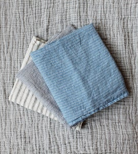 Image of French Linen Striped Pillowcases