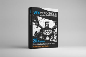 Image of VFX WORKSHOPS Digital Photo Realistic Inking Brush Pack 001