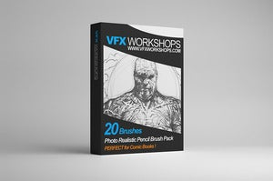 Image of VFX WORKSHOPS Digital Photo Realistic Pencil Brush Pack 001