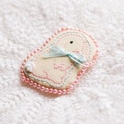 Image of Bunny Art Brooch