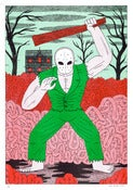 Image of Splatterhouse - A3 Risograph Print