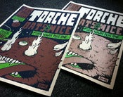 Image of Torche, Bats & Mice poster (metallic and glow in the dark ink)