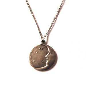 Image of Simple Silver Moon Necklace