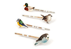 Image of Set of 4 Bird Hair Clips