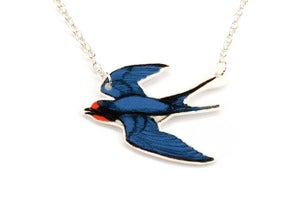 Image of Flying Swallow Necklace