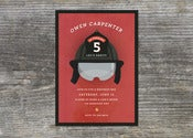 Image of Fireman Invitation (10)