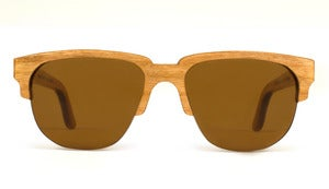 Charlie Cherry Wooden Sunglasses Handmade in California by Capital Eyewear