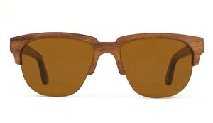Charlie Walnut Wooden Sunglasses Handmade in California by Capital Eyewear