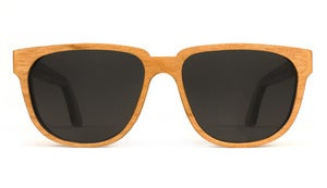 Bonnie / Clyde Cherry Wooden Sunglasses Handmade in California by Capital Eyewear