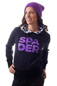 Image of Women's Black Stacked Hoody