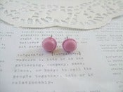 Image of Dark Pink Macaroon Earring Post Stud