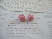 Image of Light Pink Macaroon with Dark Pink Filling Earring Post Stud