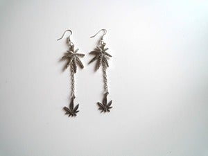 Image of Dope Leaf Drop Earrings