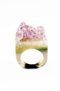 Image of NEW IN! NAGIVATE Amethyst Semi-Precious Drusy Ring (Small)
