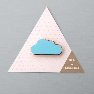 Image of Blue Cloud Brooch by Hug A Porcupine