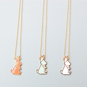 Image of Origami Rabbit Necklace by Hug A Porcupine