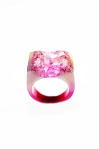 Image of NEW IN! BLUSHED Semi-Precious Drusy Ring (Lge)