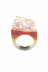 Image of NEW IN! PARFAIT Semi-Precious Amethyst Drusy Ring (Med)