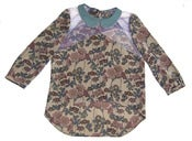 Image of Claire Liberty Silk and Tulle Blouse-Pre-Order