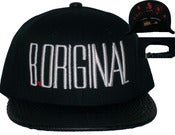"Image of The ""OG Panoramic"" Black Croc Print Strap Back Hat Joe Rocken EXCLUSIVE"
