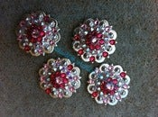 Image of Swarovski Rhinestone Conchos - Indian Pink, AB Clear and Lt Rose
