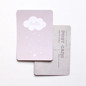 "Image of Carte Postale ""NUAGE hello"" ROSE POUDRÉ"