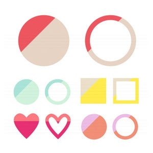 Image of Colour Block Shape Graphics