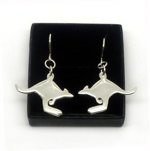 Image of STERLING SILVER KANGAROO EARRINGS