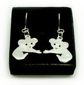 Image of STERLING SILVER KOALA EARRINGS