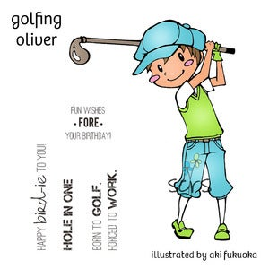 Image of Golfing Oliver