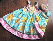 Image of Calico Knot Dress OOAK Size 6/7 READY TO SHIP!