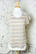Image of Stripes'n'Lace Top: Tan