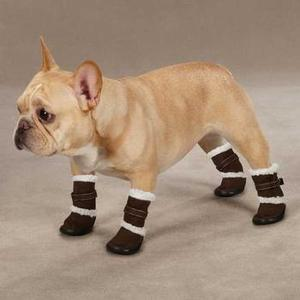 Image of Classic Sherpa Dog Boots - Chocolate